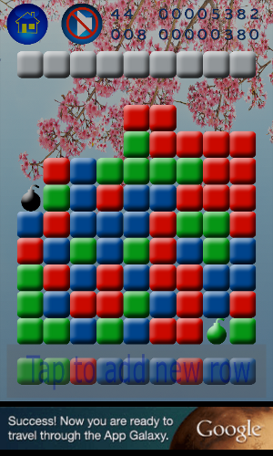 Screenshot of Collapsed Bubbles Blitz (Android)